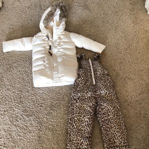 Gap winter white bundle with leopard bibs